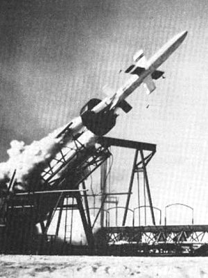 SAM-N-2 Lark - Lark missile launch at NOTS China Lake.