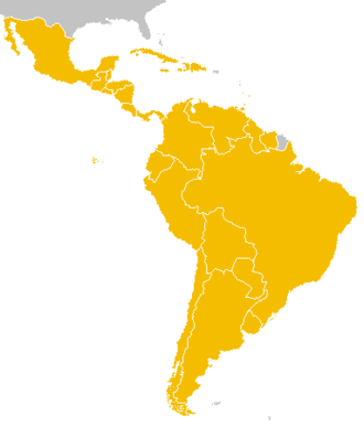 Latin American Economic System - Member nations in Yellow