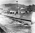 Launch of USS John P. Gray (DE-673) at the Dravo Corporation on 18 March 1944.jpg
