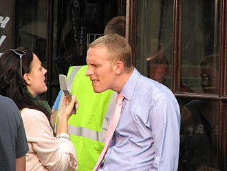 Market Street, Oxford - British actor Laurence Fox during the filming of the UK TV series Lewis on Market Street during September 2006.
