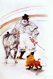 Lautrec at the circus, horse and monkey dressage 1899.jpg