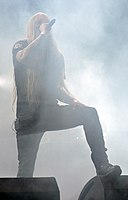 Legion of the Damned, Maurice Swinkels at Party.San Metal Open Air 2013 04.jpg