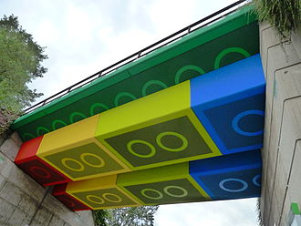 Lego in popular culture - View of Germany's Lego Bridge from below.