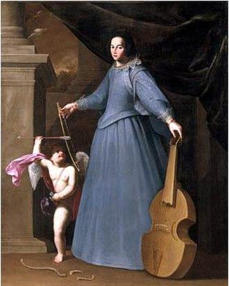 Leonora Baroni - Portrait of Leonora Baroni by Fabio Della Cornia (1600-1643)