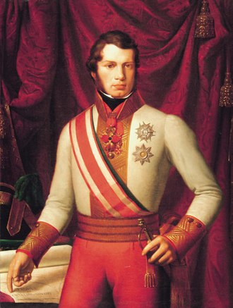 Leopold II, Grand Duke of Tuscany - Grand Duke Leopold in the uniform of an Austrian Field Marshal, 1828, by Pietro Benvenuti.