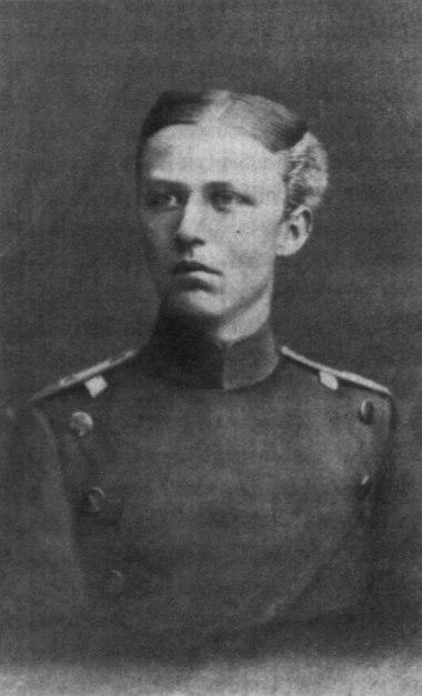 Leutnant Erich Ludendorff 1882 in Wesel im Alter von 17 Jahren