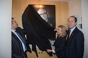 Nir Barkat - Nir Barkat, Sara Netanyahu and Ze'ev Elkin at the opening of Yad Levi Eshkol's visitors' center in Jerusalem