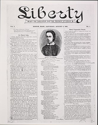 Liberty (1881–1908) - First issue of Liberty (August 6, 1881)