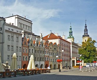 Legnica - Market Square filled with baroque and neoclassical architecture