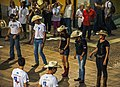 Line dancers waiting for the next dance to start, Esino Lario, Wikimania 2016.jpg