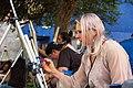 Live art in the streets of Denver's Art District on Santa Fe.jpg