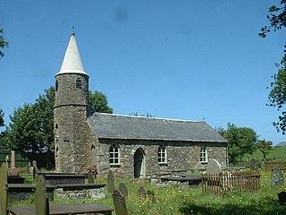 Llandegwning village in the United Kingdom