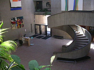Everson Museum of Art - Lobby of the museum, as seen from the second floor