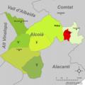 Localització de Benifallim respecte l'Alcoià.png