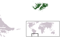 Location of Falkland Islands