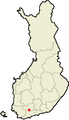 Location of Loppi in Finland.png