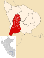Location of the province Aymaraes in Apurímac.svg