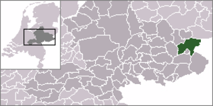 Eibergen - Image: Locator map of Eibergen