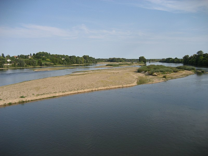 Loire, seen from the bridge at Pouilly-sur-Loire.