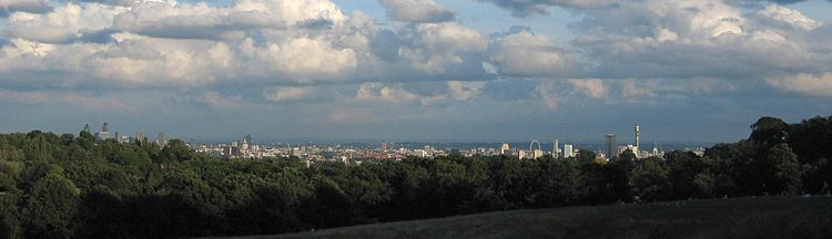 Panorama de Londres des de Parliament Hill