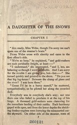 Jack London: A Daughter of the Snows