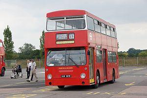 London Buses route 132 - Preserved London Transport Daimler Fleetline in July 2011