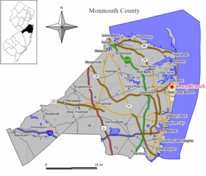 Map of Long Branch in Monmouth County