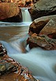 Long exposure of Douglas Falls, West Virginia (5516103053).jpg