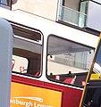 Lothian Buses interior, red vinyl seats, 15 July 2006.jpg