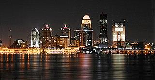 Cityscape of Louisville, Kentucky