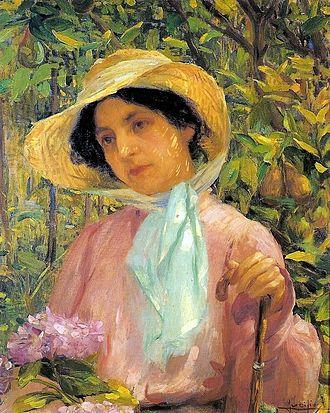 Georgina de Albuquerque - Portrait of Georgina de Albuquerque by Lucílio de Albuquerque, 1907.