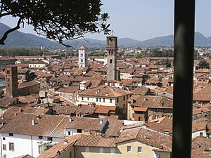 Panorama of Lucca from Torre Guinigi