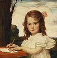 Ludwig von Zumbusch - Porträt eines Mädchens beim Zeichnen (1910).jpg