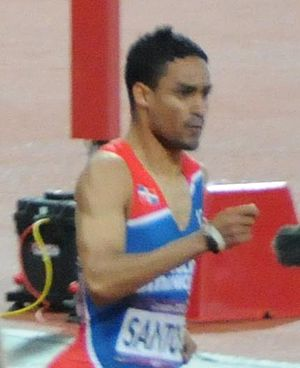 Luguelín Santos - Santos in the 400 m Olympic final.