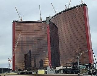 Resorts World Las Vegas Casino resort under construction in Las Vegas, Nevada