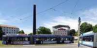 München, GT6N wendet am Karolinenplatz, 2.jpeg