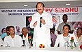 M. Venkaiah Naidu addressing at the felicitation function of the Rio Olympics-2016 silver medalist Ms. P.V. Sindhu and Badminton coach Shri Pullela Gopichand, in Vijayawada.jpg