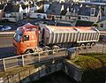 "M. Way & Son artic tipper ""Helen Louise"" (PO55 KZS), Port of Teignmouth, 14 November 2012.jpg"