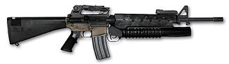M203 grenade launcher - M16A2 with an M203