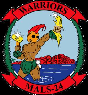 Marine Aviation Logistics Squadron 24 - MALS-24 Insignia