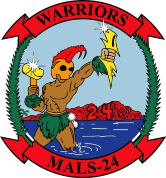 Marine Aviation Logistics Squadron 24 - MALS-24 Insignia