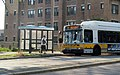 MBTA route 47 bus at Fenway station, August 2016.JPG