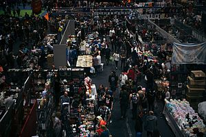 MCM London Comic Con - Birds eye view of guests at MCM London Comic Con, at the Excel Centre London, May 2017