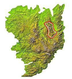 Carte de localisation des monts du Forez.