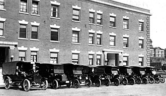 United Parcel Service - Merchants Parcel Delivery delivery vehicles in 1916