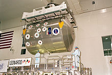 MPLM Leonardo is moved to the payload canister.jpg