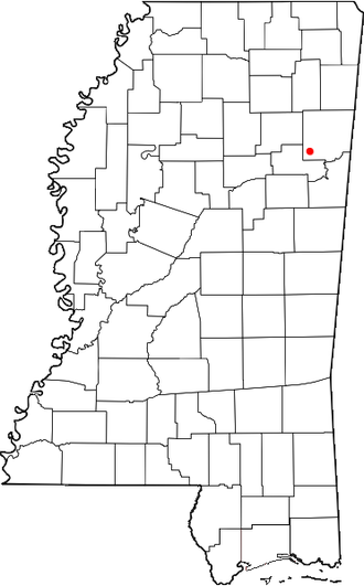 Muldon, Mississippi - Location of Muldon, Mississippi