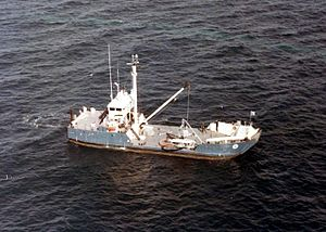 MV Retriever during Apollo recovery tests (S66-27792).jpg
