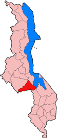 Location of Dedza District in Malawi