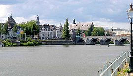 Blick über die Maas auf die Altstadt